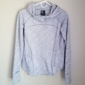 Gap Fit Orbit Fleece Hoodie in Heather Grey Matter